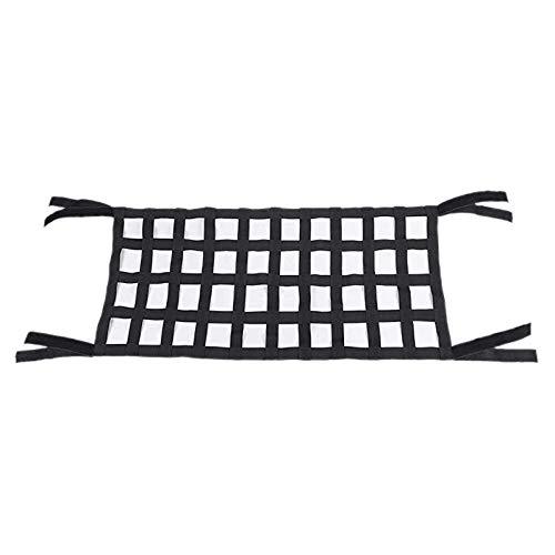 Nrpfell Tissu Oxford Noir Autocollant Magique Multifonctionnel Hamac De Stockage De Toit Filet De Protection De Toit 4 x 10 Maille Convient /à Jeep Wrangler