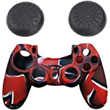 Silicone controller Skin Cover Case & thumb grip cap for SONY Playstation 4 PS4