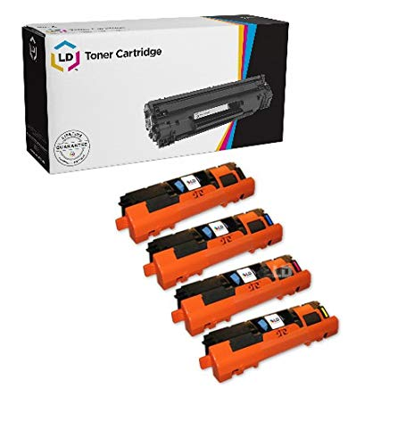 LD Products Remanufactured Toner Cartridge Replacement for HP 122A ( Black,Cyan,Magenta,Yellow , 4-Pack )