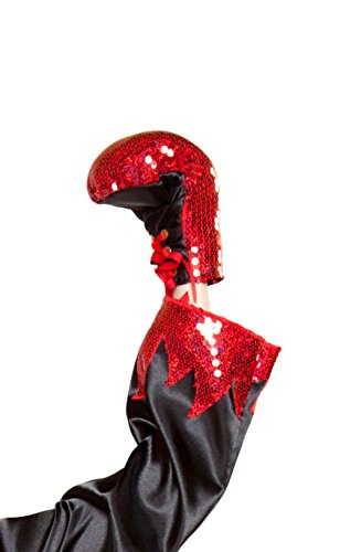 Cyberteez Sexy Women's Sequin Boxing Gloves Costume Accessory Red -