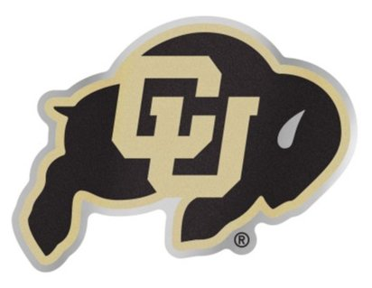 WinCraft NCAA University of Colorado Buffaloes 4.85'' x 3.5'' Inch Plastic Auto Badge Sticker Decal by WinCraft