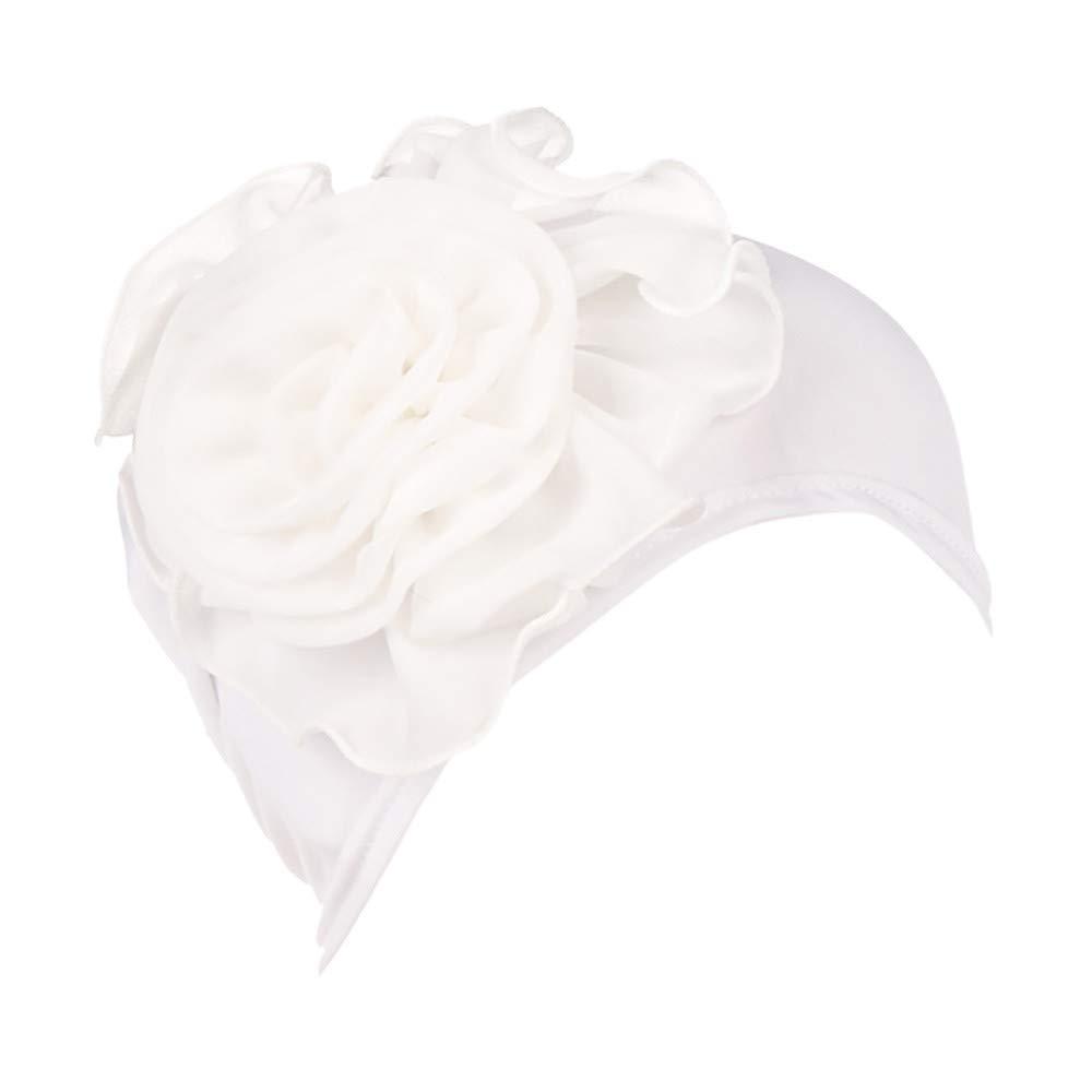 Women's Muslim Elastic Appliques Turban Hat Hair Loss Head Wrap Cap Chemo Cap Fashion Slouchy Hats for Women