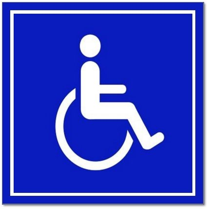 6 Pack Of Disabled Wheelchair Symbol Ada Compliant