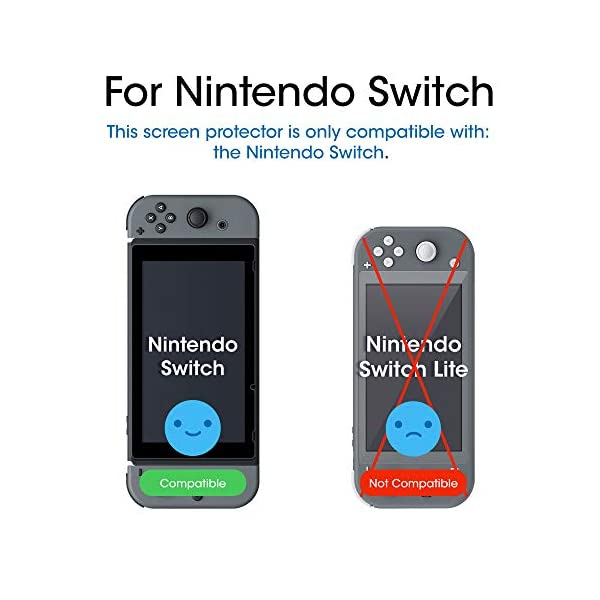 amFilm Tempered Glass Screen Protector for Nintendo Switch 2017 (2-Pack) 2