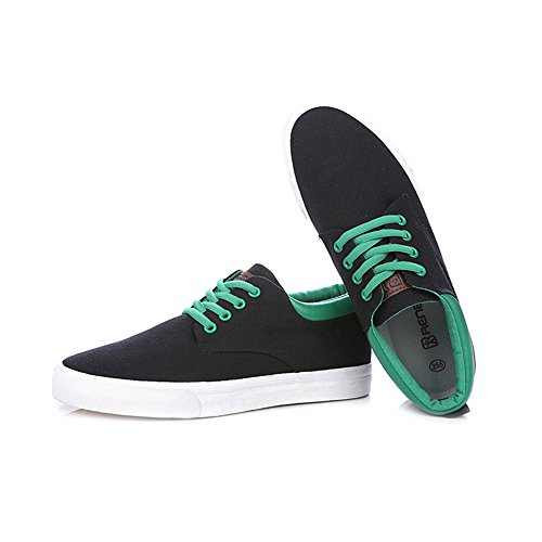 Mens Sneakers Shoes 9953 Black Wedge Lace Hiking US7 Up rismart Espadrilles Comfort Canvas Low HYdUHBg