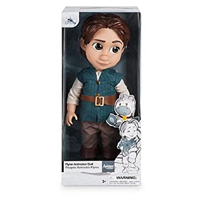 Official Disney Tangled 39cm Flynn Rider Animator Toddler Doll With Maximus: Toys & Games