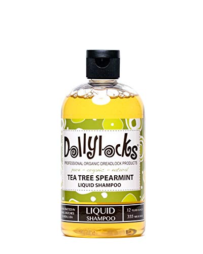 Dollylocks 12oz Tea Tree Spearmint Liquid Dreadlock Shampoo