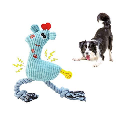 Andiker Hundespielzeug Quitschend, langlebiges Plüschseilspielzeug für Haustiere, weiches Welpen-Kauspielzeug für…