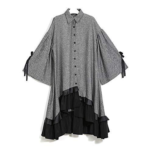 Vestido de fiesta de cóctel de las mujeres Elegante Inglaterra de invierno de las mujeres Chaqueta con botones sueltos...