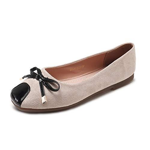 FLYRCX FLYRCX FLYRCX Zapatos Planos Ocasionales del Arco Suave bajo Plano Ocasional Zapatos de Trabajo de Oficina de los Zapatos de Las Mujeres Solos, 39 UE, A b249a4