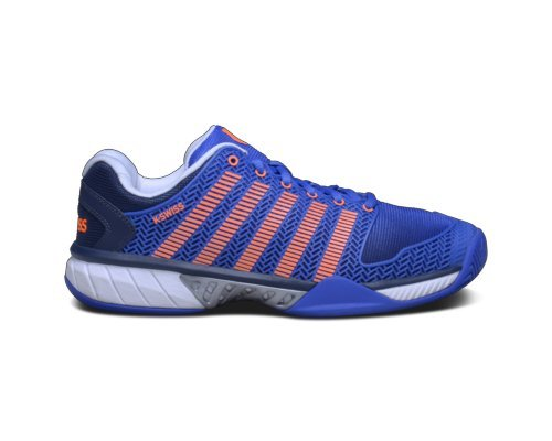 K-Swiss Men's Hypercourt Express Tennis Shoe-11 D(M) US-Electric Blue/Dress Blues/Safety Orange