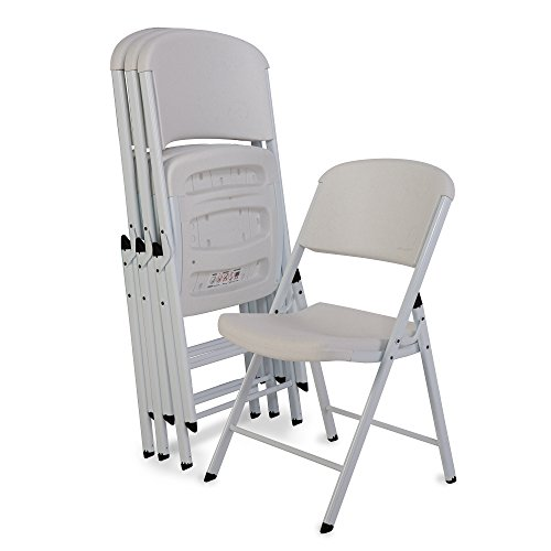 (Lifetime 80359 Classic Commercial Grade Folding Chair, White, 4 Pack)