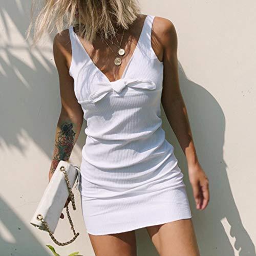 En De Couleur Sans Femme Cebbay Blanc Soiree Jupe V Chic Robe nbsp; Unie col Manches qpZ7zwZ