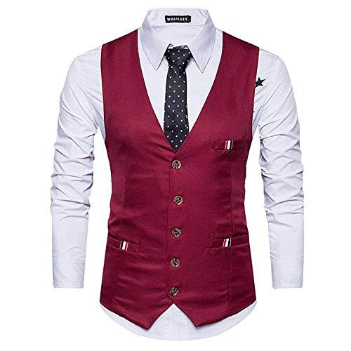 Nner Vest Pour Haidean Short Winered Affaires Décontracté Fine Hommes Moderne Avec Costumes Sauvage CRATq