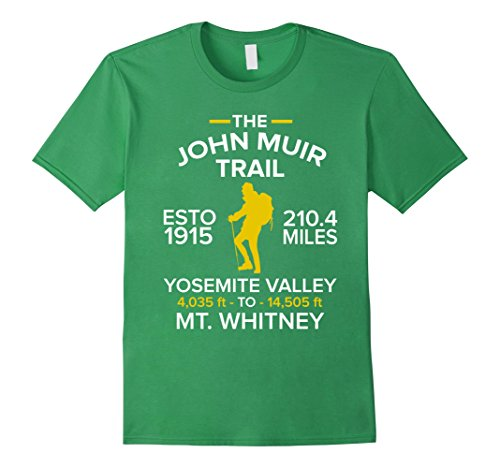 Mens THE JOHN MUIR TRAIL T-Shirt Yosemite to Mt.Whitney Large - Trail Mt Whitney John Muir