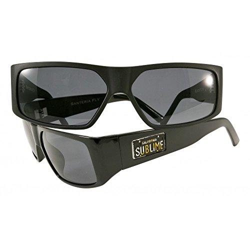 Black Flys Men's Santeria Fly Sublime Collaboration Sunglasses S.BLK/SMK