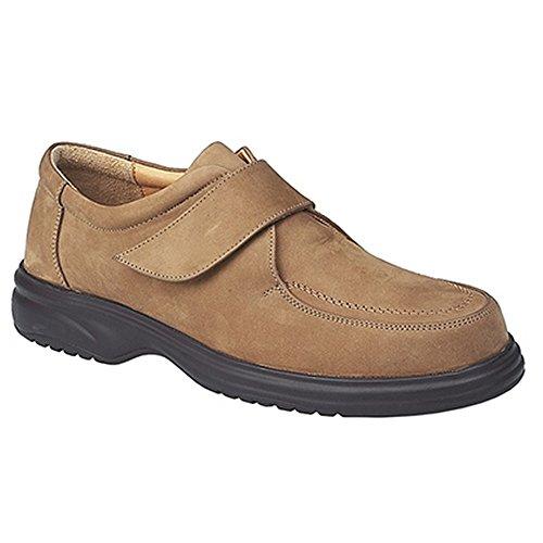 Passform mit breite Schwarz Schuhe Superlite Roamers Klettverschluss Herren Lederschuhe YxTq0TwIa
