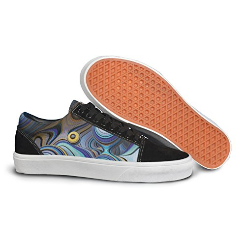 - VCERTHDF Print Trendy Animated Wallpaper Illusion Low Top Canvas Sneakers
