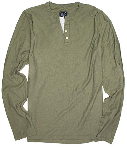 Abercrombie & Fitch Men's Long Sleeve Henley T-Shirt for sale  Delivered anywhere in USA