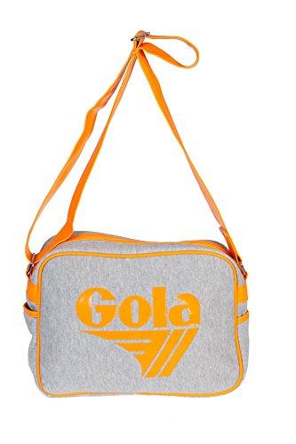 Gola CUB550 REDFORD JERSEY Bandolera Mujer Gris Grey/Neon Orange