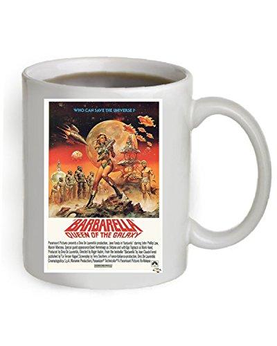 Barbarella Movie Poster Coffee Mug 11 OZ. (The Poster is printed on both sides of the Mug). #A086
