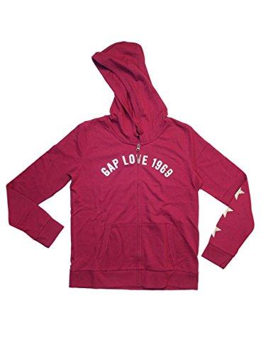 (GAP Women's Love Hoodie Sweater (S, Burgundy))