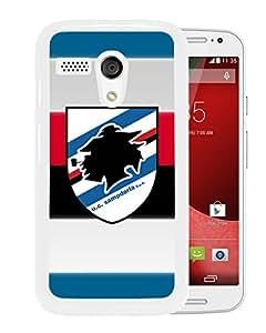 Fashionable Custom Designed Skin Case For Motorola Moto G With Sampdoria White Phone Case 1