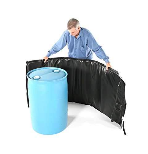 Powerblanket BH55RR-80 Industrial Grade/Weather Resistant D-15 Vinyl Shell 55 gal Insulated Drum Heating Blanket, Fixed Internal Thermostat 80 Degree F, Barrel Heater, Black (Oil Heater Patio Drum)