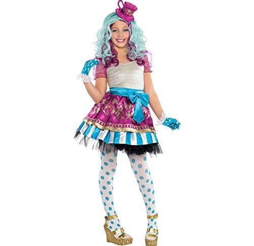 Ever After High Madeline Hatter Halloween Costume Supreme for Girls, Medium, with Included Accessories, by Amscan -