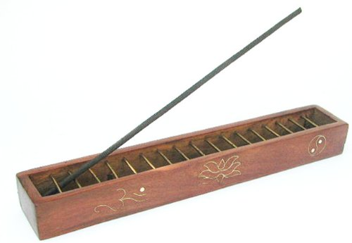 Incense Burner Box (Tibetan Lattice Wire Box Incense Burner - Inlaid Designs)