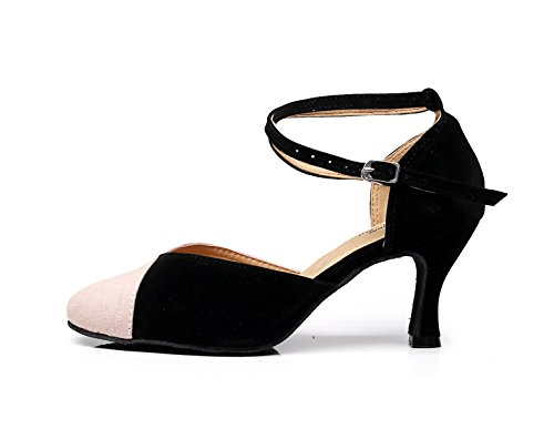 Baile Mujeres Jazz Para JSHOE Samba Our34 UK3 EU33 Moderno Latinos Pink heeled7 Dance 5cm Zapatos De Chacha Shoes 1wEqqfRz