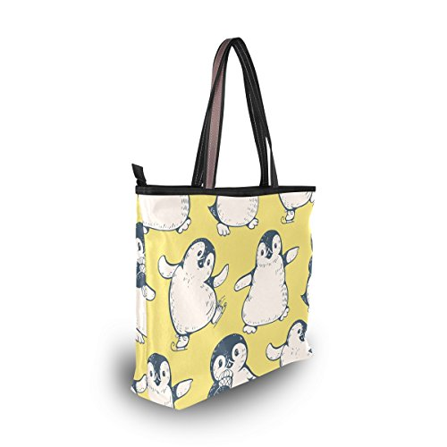 Linda Alaza Grande Bolso Pingüinos De Asas TUAWcPqw1x