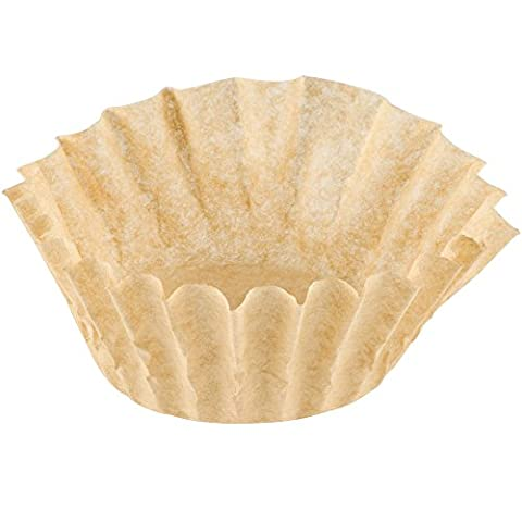 Coffee Filters - Natural Unbleached Brown Biodegradable - Large Basket 12 Cup - by California Containers (100 Count)