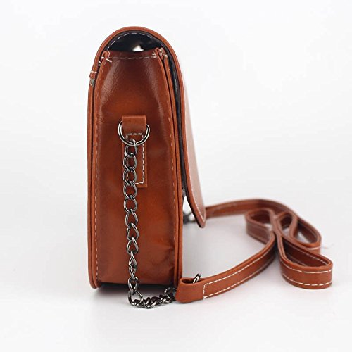 Bag Chain Hrph Handbag Square Shoulder Mini Small Bag Clutches Women Bags Handbags Retro Lady Marron Messenger HY1YPp