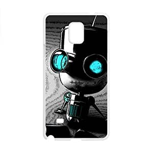 Happy Cute Seated robot Cell Phone Case for Samsung Galaxy Note4
