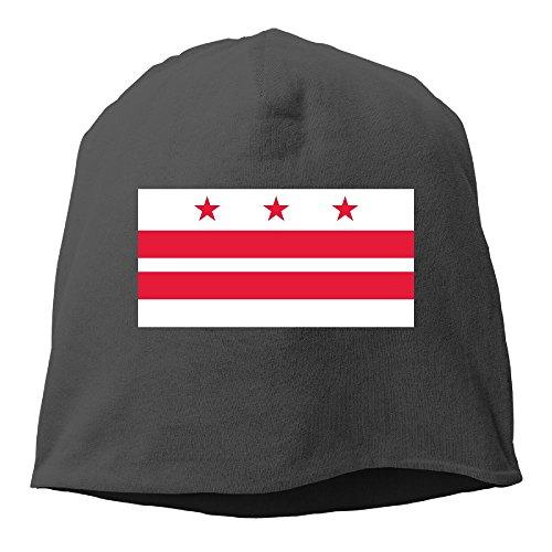 Washington DC Flag Element Design Plain Skullies Beanie Dance toboggan Hat Unisex Cap