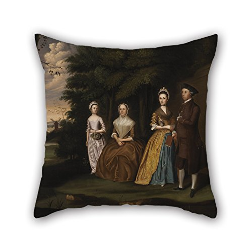 Slimmingpiggy 20 X 20 Inches / 50 By 50 Cm Oil Painting William Williams - The Wiley Family Throw Pillow Case ,two Sides Ornament And Gift To Saloon,boys,family,relatives,couples,kids Room