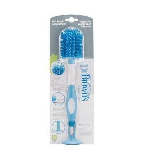 Escova de Mamadeira Silicone, Dr Browns, Azul