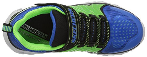 Skechers Boys Hypno-Flash 2.0 Light Up Athletic Sporty Trainers Shoes Verde-Azul