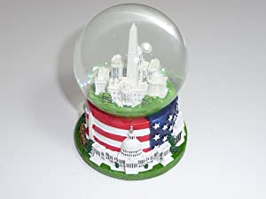 Washington DC Snow Globe of Famous Buildings with Flag