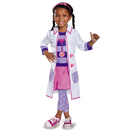 Big Show Costumes (Doc Toy Hospital Classic Doc Mcstuffins Disney Junior Costume, Large/4-6X)