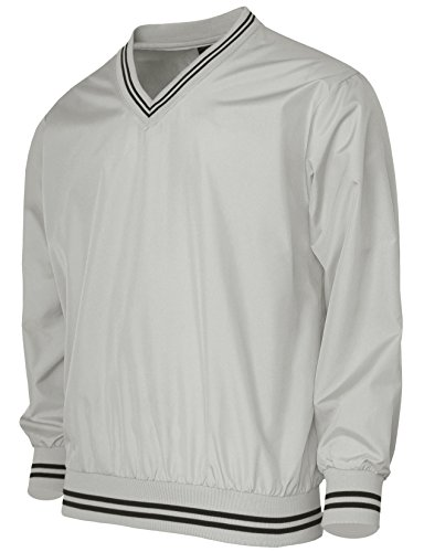 BCPOLO Men's V Neck Golf Wind Shirt Athletic Windbreaker V Neck Shirt Gray-M