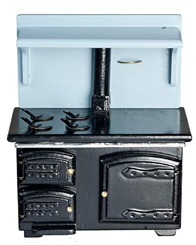 Dollhouse Miniature Black Wood-burning Stove (Stove Wood Miniature)