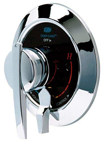 Zurn TPK7220-SS Temp-Gard 4-Port Tub and Shower Valve with Integral Diverter Valve and Service Stops