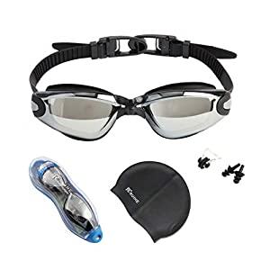 RUIHE Multicolor Swim Goggles,Anti Fog No Leaking Swimming Goggles UV Protection Clear Vision for Men Women Adult and…