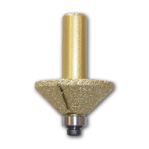 Toolocity RBQL034616 E16 Bevel Brazed Router Bit 1/2-Inch Shank with Bearing