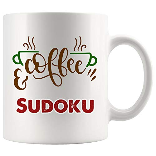 - Coffee And Sudoku Mug Coffee Cup Tea Mugs Gift | My Power Energy Superpower Kakuro Game crossword puzzle children Funny Lover Men Women Kids Sayings Travel