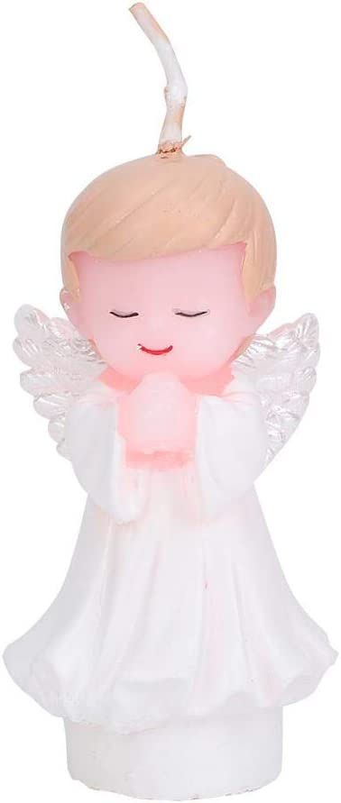 03 New Kids Birthday Angel Baby Candle Party Crown Smoke Free Cake Candles Shower Party Favors Decorations