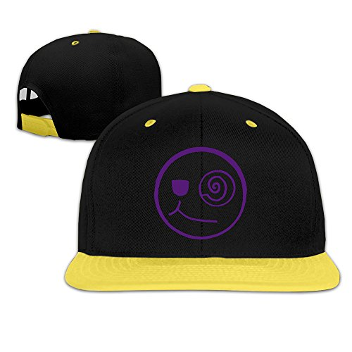 WSYL88 Winking Smiley Face #2 Unisex,Children Baseball Adjustable Hats Fashion Kid Hip Pop Caps Hip Pop Strapback Hats (Spinny Hat)