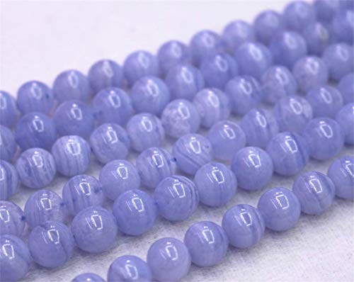 Wholesale Natural Blue Lace Agate Beads,4mm 6mm 8mm 10mm 12mm Blue Lace Agate Smooth and Round Beads.Blue Lace Agate Beads Wholesale. Wholesale Beads (6mm,63pcs)